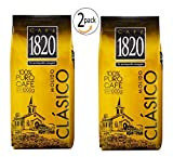 Cafe 1820 Costa Rican Ground Coffee, - 2.2 lb./1 Kilo - 2 pack