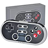 Wireless Bluetooth Controller with Joysticks Rumble Vibration TYPE-C Cable Gamepad Compatible with Switch,Windows, Android, PS3, Steam - SNES Style