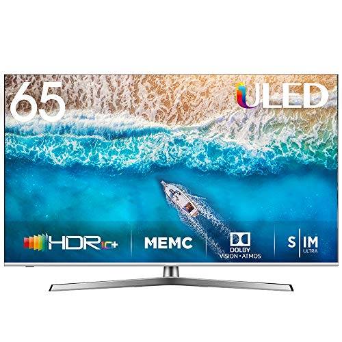 Hisense H65U7BE - Smart TV ULED 65' 4K Ultra HD con Alexa Integrada, Bluetooth, Dolby Vision HDR, HDR 10+, Audio Dolby Atmos,...