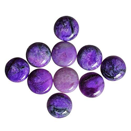 Proveedor de cabujón de piedra sugilita morada de 14 mm, piedra preciosa para hacer joyas SG 14 mm