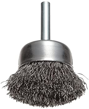 Weiler 36029 Vortec Pro 2  Crimped Wire Cup Brush .014  Steel Fill 1/4  Stem Made in the USA