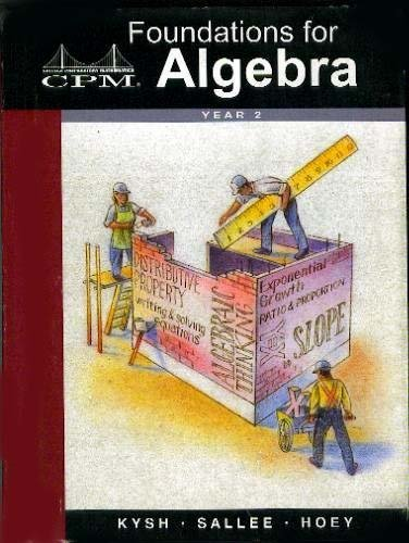 Cpm 'foundations for Algebra Year 2 PDF Books
