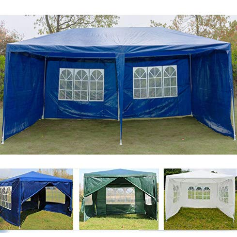 Carpa de campaña para el sol, compatible con el refugio de eventos 3x3m/3x6m, panel lateral con ventana, alta protección solar, resistente al agua, verde