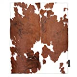 Moslion Cowhide Throw Blanket Leopard Farm Animal Tri Color Brown Cow Blanket King Size Flannel Blanket 60x80 Inch for Sofa Bed Women Men