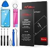 FLYLINKTECH Batterie pour iPhone 5S, Haute Capacité 2200 mAh, Batterie Interne de Rechange en Li-ion, Outils de Réparation Professionnel Complets Avec kit de Remplacement, Tournevis Outils et Adhésif