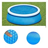 Solar Pool Cover for Above Ground Pool,8 ft Round Solar Cover for Swimming Pool (240X240CM(8ft))