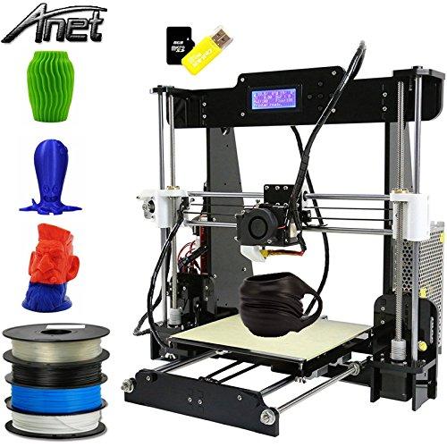 Impresora 3D Anet A8, Kit de impresora 3D, actualizada, de alta precisión con pantalla LCD