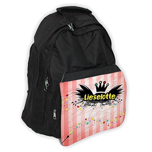 Rucksack mit Namen Lieselotte und schönem Zauberfee-Motiv für Mädchen
