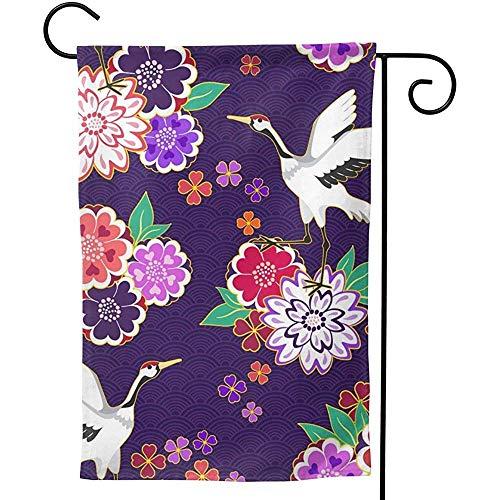 CHANGSHABF Decoratieve Vlaggen, Tuinvlag 30X45Cm Decoratieve Kimono Patroon Vector Afbeelding Gepersonaliseerd Tweezijdig Voor Home Tuin Decoratie