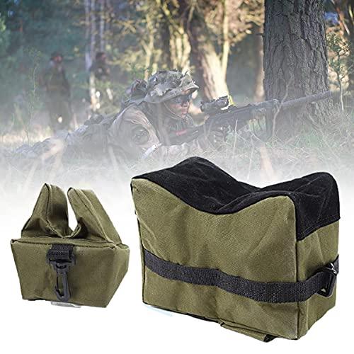 ZPCSAWA Tactics Sacos de Arena, Saco Tiro Rifle, Apoyo de Arma Banco de Tiro Delantero Trasero para la Práctica al Aire Libre de Rifles/Pistola de Aire, Resistencia Agua (Color : Army Green)