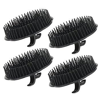 Mens Shampoo Brush Segbeauty 4pcs Scalp Massager Brush Massage Hair Brush Floriated Shower Comb for Deep Cleaning Hair Men s Hand Brush Plastic Growth Beard Brush Pet Grooming Round Palm Brush