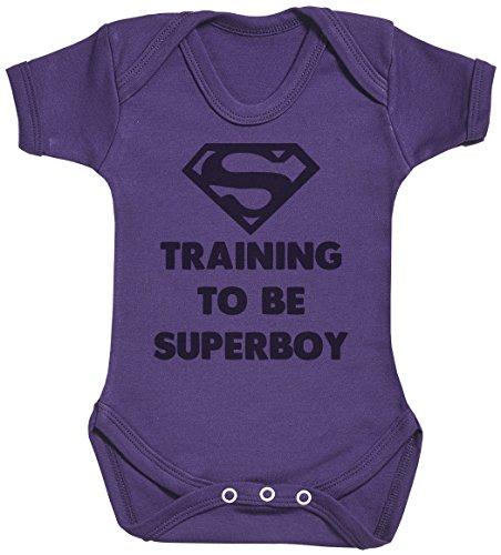 Training to Be Super Boy Body bébé - Gilet bébé - Body bébé Ensemble-Cadeau - Naissance Violet