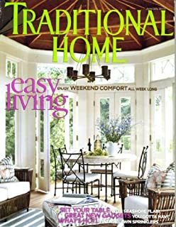 Traditional Home June/July 2005 Easy Living - Weekend Comfort All Week Long, Vintage Lawn Sprinklers, Set Your Table With Seashore Flair, Thomas Bartlett's Mexican Hacienda, Ralph Lauren Fabrics