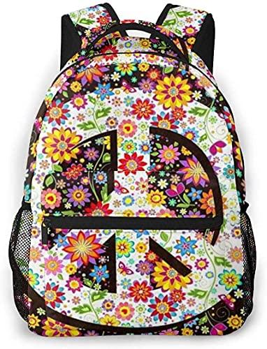 Lsjuee Dahlia Pinnata Flower Mochila informal gris claro y gris degradado para la escuela Viaje al aire libre Bolso grande de moda para estudiantes