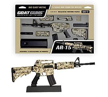 GoatGuns Miniature AR15 Camouflage Display Model | 1 3 Scale Die Cast Metal Build Kit