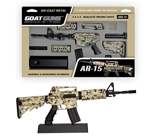 GoatGuns Miniature AR15 Camouflage Display Model | 1:3 Scale Die Cast Metal Build Kit