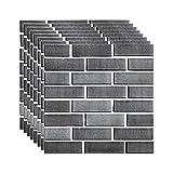 Vintage 3D Brick Wallpaper For Walls Embossed Kitchen Backsplash Tiles Wall Paper For Bathroom...