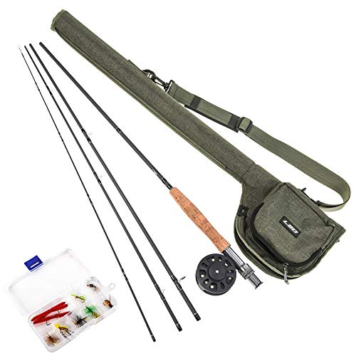 Lixada Fly Fishing Rod and Reel Combo with Carry Bag 9ft Fishing Rod...
