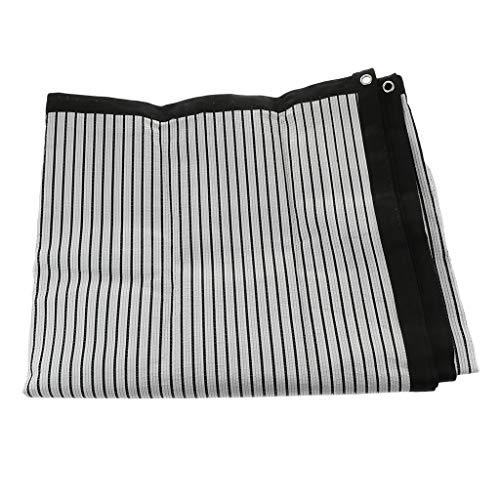 FLAMEER Reflektierender Schattennetz Sichtschutznetz Sonnenschutz Sonnenschirmnetz Gewächshaus, Winddicht & sonnenabweisend - 4,3 × 2 m