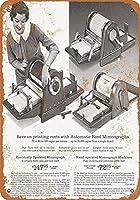 シアーズ自動フィードMimeographマシン金属サインレトロな壁の装飾ティンサインバー、カフェ、家の装飾