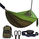 Camping Hammock, Lightweight Nylon Portable Parachute Double Camping Hammock for Backpacking, Camping, Travel