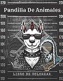 Pandilla Animal Libro de colorear: Divertido libro para colorear para niños y adultos.