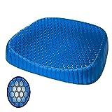 Flyinghedwig Comfort Gel rinfrescante Sedia Sedile Cuscino Sollievo per Colonna vertebrale Lombare coccige Sciatica o Hip Pain