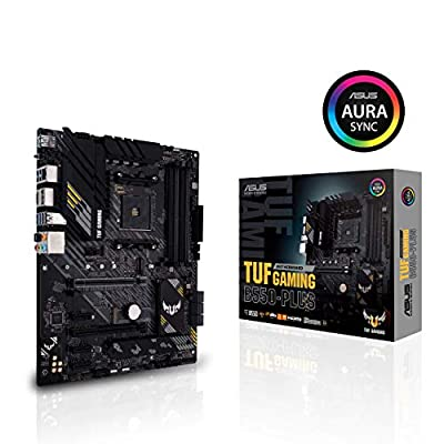 ASUS TUF Gaming B550-PLUS AMD AM4 (3rd Gen Ryzen ATX Gaming Motherboard (PCIe 4.0, 2.5Gb LAN, HDMI 2.1, BIOS Flashback, USB 3.2 Gen 2, Addressable Gen 2 RGB Header and Aura Sync)