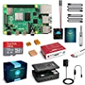 LABISTS Raspberry Pi 4 4GB Starter Kit with 32GB Micro SD Card Preloaded Raspberry Pi OS (Raspbian), Black Case, Heatsinks, Fan, Micro HDMI Cable x 2, SD Card Reader (4GB RAM)
