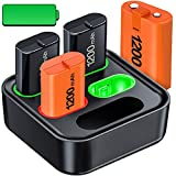Rechargeable Battery for Xbox One/Xbox Series X|S, 4x1200mAh Controller Battery Pack with Xbox One Charger Station for Xbox One/ S/ X/ Elite,Rechargeable Batteries with Xbox One/Series Accessories Kit