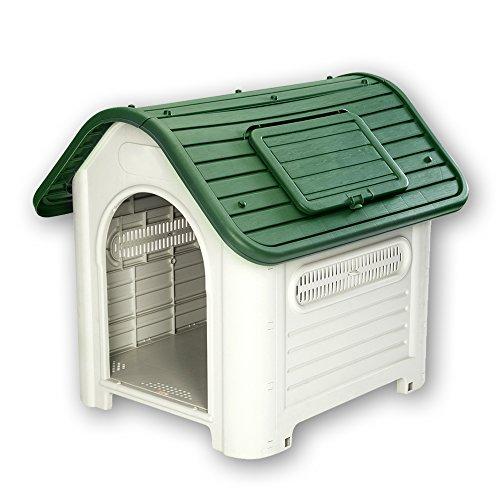 【Branch Dog】 犬小屋 小・中型犬用 ドッグハウス シェルター 屋外用 419(緑)(プラスチック製)ヨーロッパ・アメリカ輸出用 (グリーン)