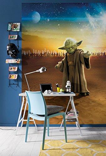 Komar Fototapete aus Papier Star Wars Master Yoda, 184 x 254 cm, 4 Teile, Paper, Bunt