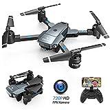 SNAPTAIN A15H drone yokhala ndi kamera HD 720P foldable drone FPV WLAN 120 ° yotakata mbali RC quadrocopter / yopanda mutu / gwiritsitsani / 3D flip / trajectory ndege / kuwongolera mawu / mphamvu yokoka / yokweza mwadzidzidzi