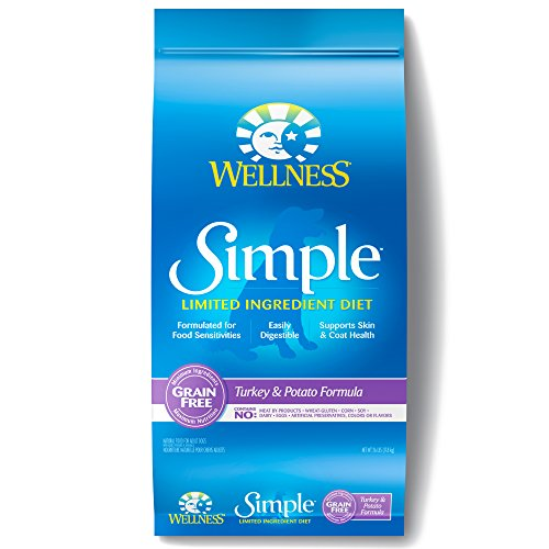 Wellness Simple Natural Grain Free Dry Limited Ingredient Dog Food,...