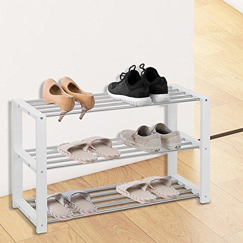68x25x73cm Zapatero de Bamb/ú de 4 Niveles Estante de Almacenamiento Organizador para Zapatos en Sala de Estar Entrada Vest/íbulo Armario lyrlody Estanter/ía para Zapatos Botas