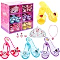 Fedio Girls Princess Dress up Shoes Role Play Collection…