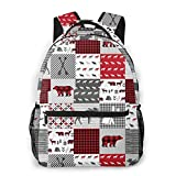 Buffalo Plaid Travel Laptop Backpack Business Anti Theft Slim Durable Laptops Backpack Water