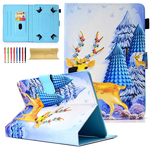 Universal Case for 6.5-7' Tablet, Coopts PU Leathe Book Foilo Stand Case for Samsung Galaxy Tab E 7.0 / Tab A 7.0 / Fire 7 2015 2017 / Nexus 7 and More 6.5-7.5' Tablet, Deer