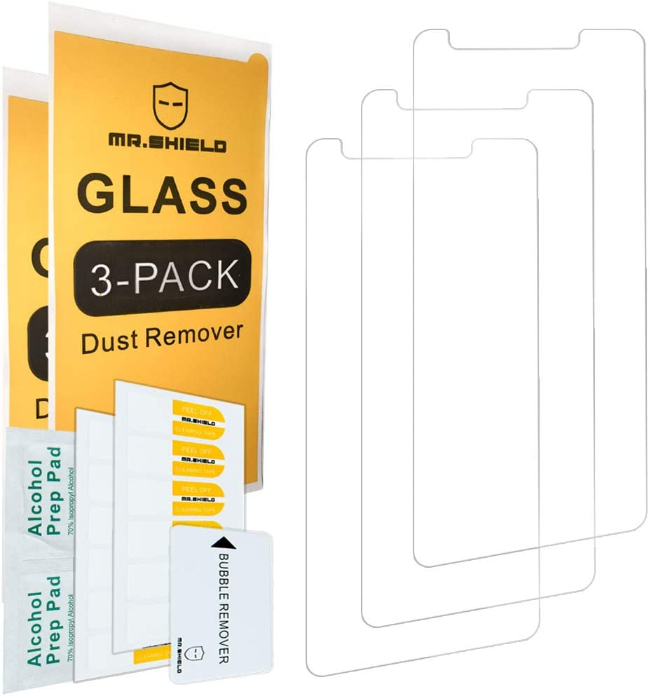 [3-Pack]-Mr.Shield Designed For LG Aristo 4 Plus [Tempered Glass] Screen Protector with Lifetime Replacement