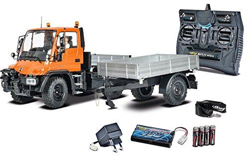 RC Auto kaufen Baufahrzeug Bild: Carson 500907213 - 1:12 Unimog U300 mit Anhänger 100% RTR, Fahrzeug*