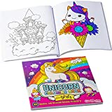 GirlZone Arts and Crafts Unicorn Kids Coloring Books for Girls, 102 Magical Unicorn Designs to Color in, Great Unicorn Gift Books for 8 year old girls