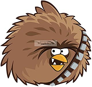 8 Inches Terrance Big Brother Chewbacca Chewie Wookie Angry Birds Star Wars Removable Peel Self Stick Adhesive Vinyl Decorative Wall Decal Sticker Art Kids Room Home Decor Girl Boy 8x8 Inch