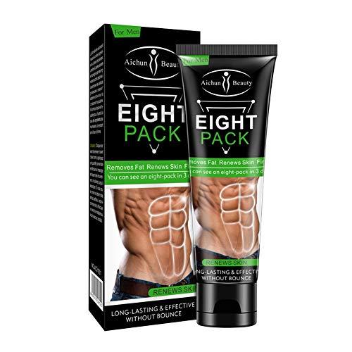 Auplew Crema Abdominal, Crema Abdominal para Hombres Quema Grasa Cuerpo Reafirmante Fortalecimiento Abs Estimulador Muscular Eliminación de Células Grasas