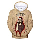 Sweat A Capuche 3D Pull Sweatshirt Anime HD Imprimer Cosplay Poche Hoodies Unisexe Fermeture Eclair Tops American Horror Story XXXL