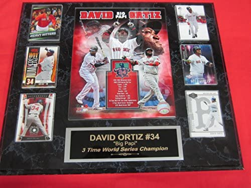 Red Sox David Ortiz 6 Card Collector Plaque w 8x10 Color Retirement Photo product image