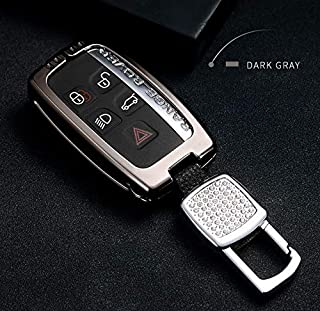 Bling Rhinestones Car Key Case Key Cover Key Chain for Land Rover Range Rover Evoque Freelander Discovery 4 ,for Jaguar F-pace XE XF XJ Key Case Key Cover Key Chain Women's Car Accessories (gray)