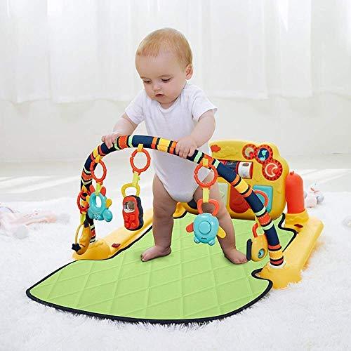 Home Equipment Baby Play Piano Gym Educativo Juguetes de regalo para bebés Ejercicio de pie de bebé Rack de música Fitness Piano Rack de juguete con manta de juego para bebés 0 1 años de edad (Colo
