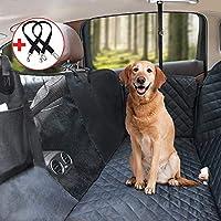 HeiYi Waterproof Dog Car Hammock with Mesh Visual Window Storage Pockets