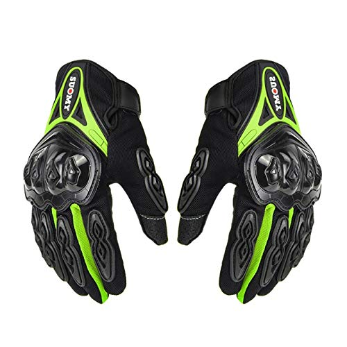 Guantes de Motocicleta Guantes Transpirables Moto Dedo Completo Moto Unisex Guantes de Motocross Motocicleta Poliéster Verano M-2XL-a106-XXL