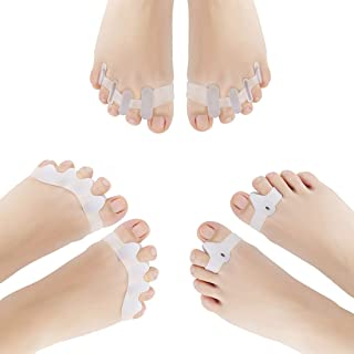 Separador dedos pie, Corrector De Juanetes para Noche y Día Set de 6 piezas, Protección de Juanetes y Hallux Valgus- 0% BPA - Talla universal